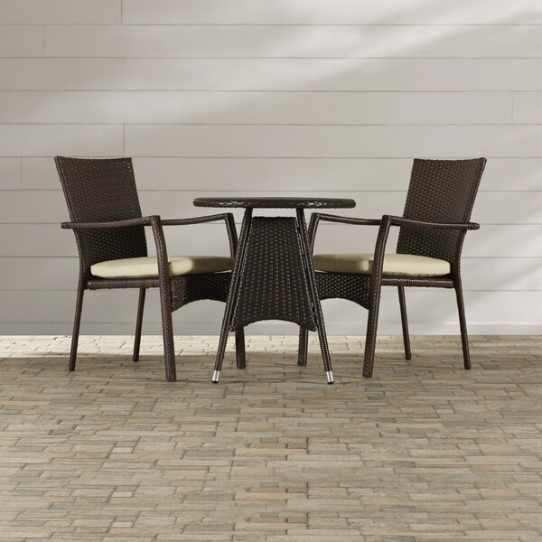 Brandon 3 Piece Bistro Set by Beachcrest Home