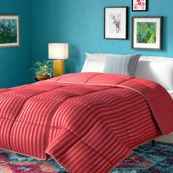 Stripe Reversible Down Alternative Comforter by Alwyn Home