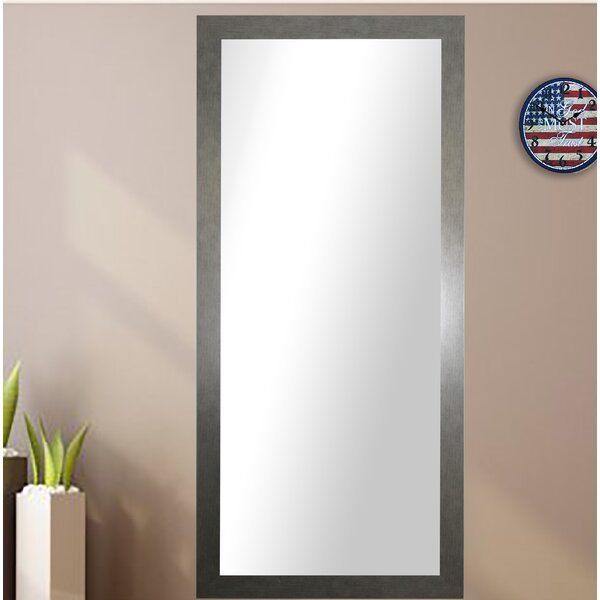 Rectangle Silver Framed Wall Mirror by Wade Logan