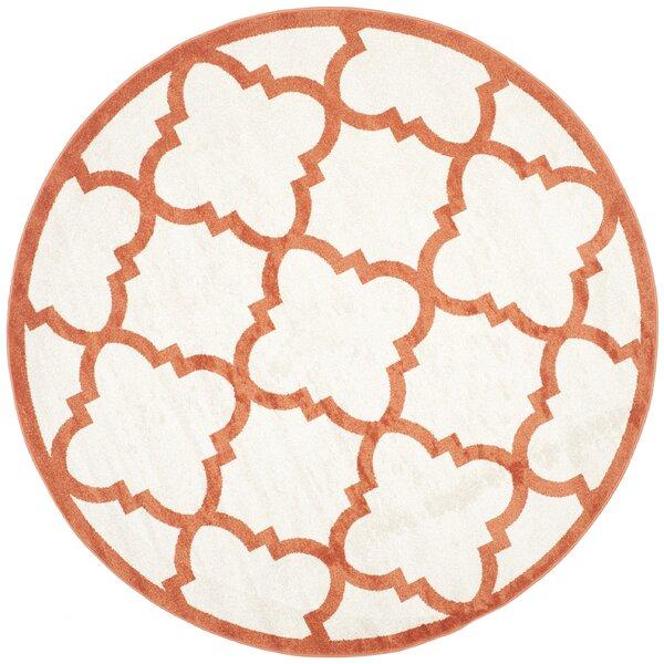 Maritza Geometric Beige/Orange Indoor/Outdoor Area Rug by Willa Arlo Interiors