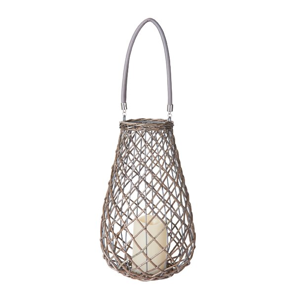 LED Pear Wicker Lantern by Highland Dunes