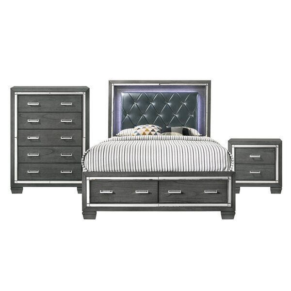 Anthea Platform 3 Piece Bedroom Set by House of Hampton