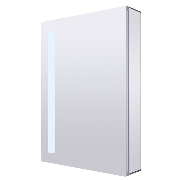 Surface Mount Frameless Medicine Cabinet with LED Lighting