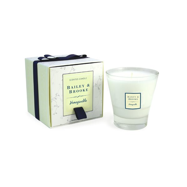 Honeysuckle Filled Tumbler Glass Scented Jar Candle by Bailey and Brooke