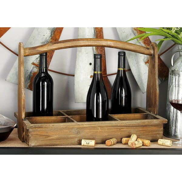 Wood 6 Bottle Tabletop Wine Bottle Rack by Cole & Grey