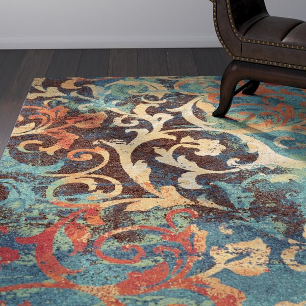 Rorry Blue/Brown Area Rug by Bloomsbury Market