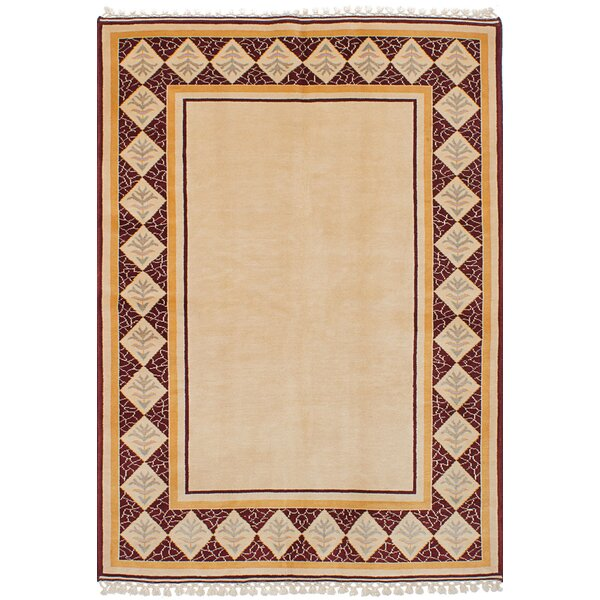 One-of-a-Kind Hannan Hand-Knotted Wool Ivory Area Rug by Isabelline