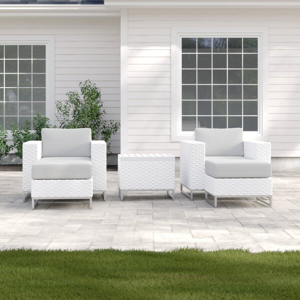 Menifee 5 Piece Seating Group with Cushions by Sol 72 Outdoor