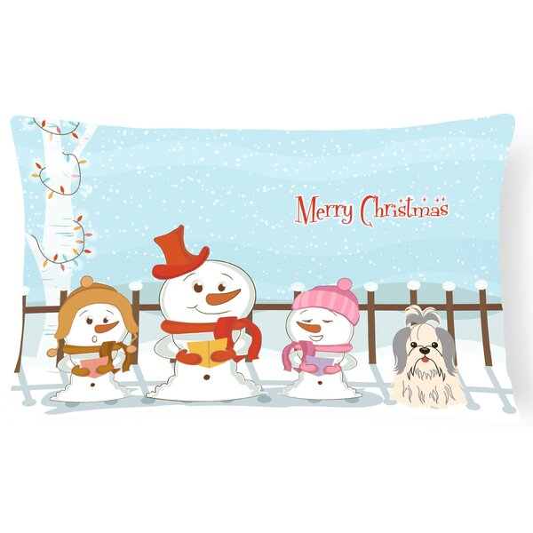 Daniella Merry Christmas Indoor/Outdoor Lumbar Pillow by The Holiday Aisle