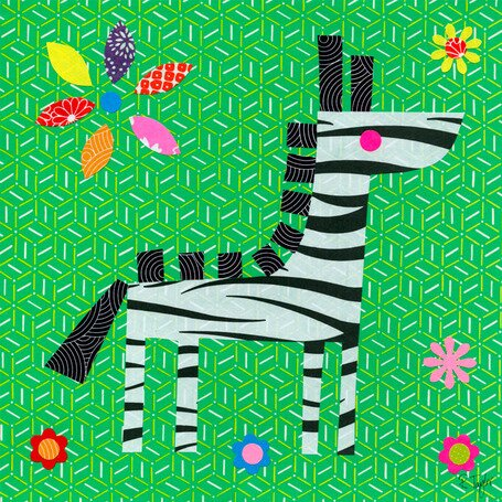 Geometric Zebra Canvas Art by Oopsy Daisy