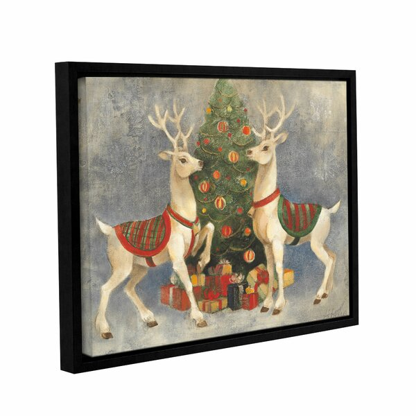 Holiday Reindeer Framed Painting Print on Wrapped Canvas by Alcott Hill