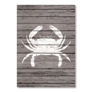 Wood Quad Crab Graphic Art by Breakwater Bay