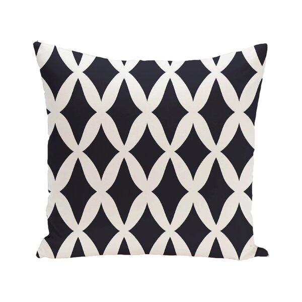 Lattice Kravitz Geometric Print Down Throw Pillow by e by design
