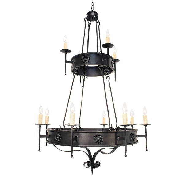 Beardsley 12 - Light Candle Style Empire Chandelier By Fleur De Lis Living