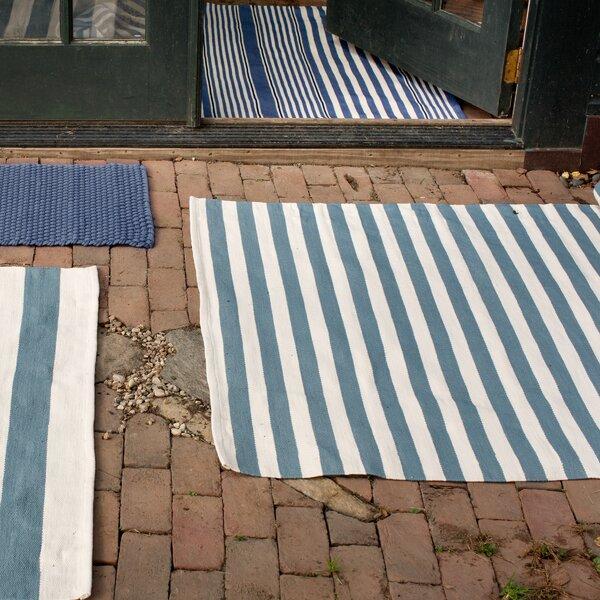 Indoor/Outdoor Denim/Ivory Outdoor Area Rug by Dash and Albert Rugs