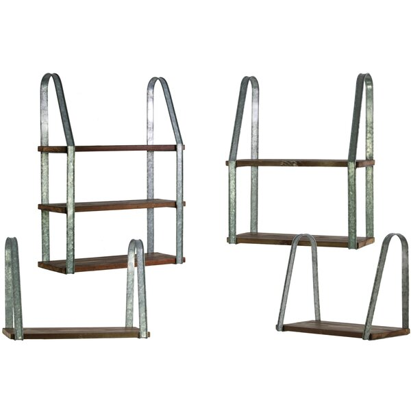 Wood Rectangular 4 Piece Accent Shelf Set by Urban Trends