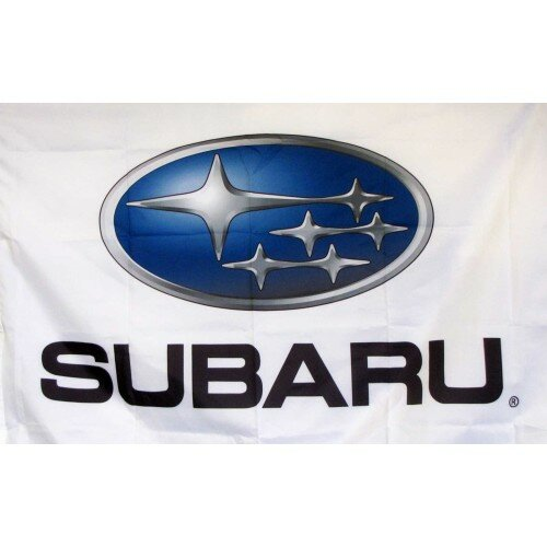 Subaru Auto Logo with Words Traditional Flag by NeoPlex