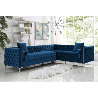 Everly Quinn Reversible Stationary Sectional Upholstery Color Sectionals