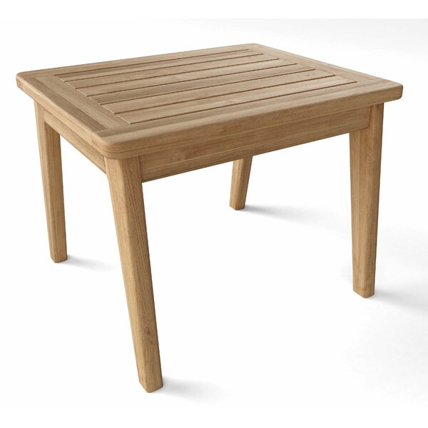 Thorin Teak Side Table by Rosecliff Heights