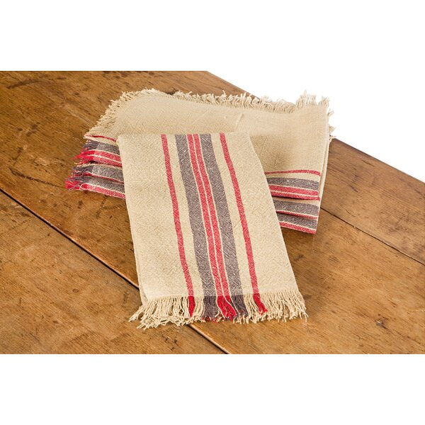 Stripe Linen Tea Towel (Set of 4) by Xia Home Fashions