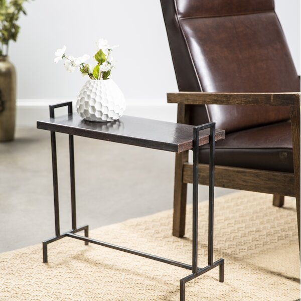 Brooklyn Rectangle End Table by 17 Stories