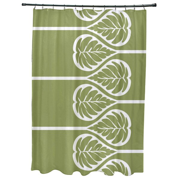 Sigsbee Fern 2 Floral Print Shower Curtain by Bay Isle Home