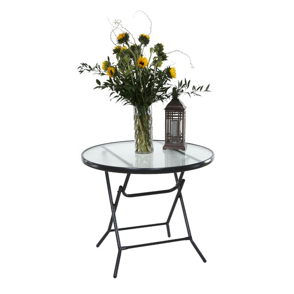 Vargas 34 Round Folding Patio Table by Ebern Designs