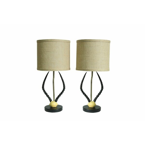 Cody Horn 17 Table Lamp (Set of 2) by Urbanest
