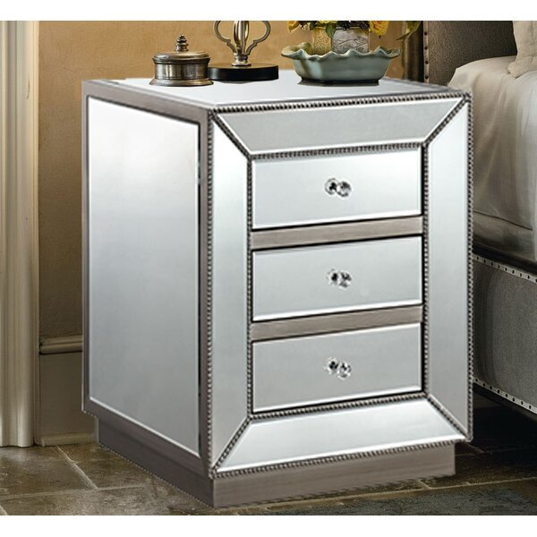 Maguire 3 Drawer Nightstand by House of Hampton House of Hampton