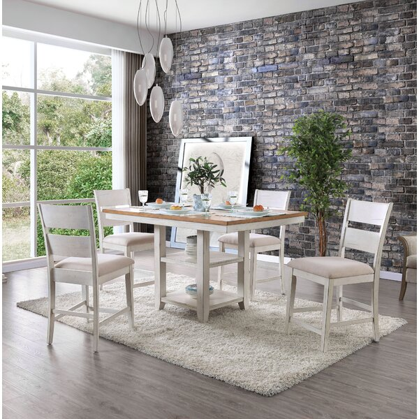 Krueger 5 Piece Dining Set by Rosecliff Heights