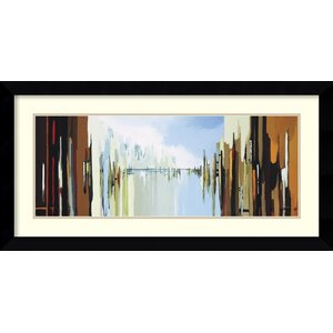 'Urban Abstract No. 242' by Gregory Lang Framed Painting Print by Amanti Art