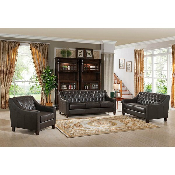 Charley 3 Piece Living Room Set by Canora Grey