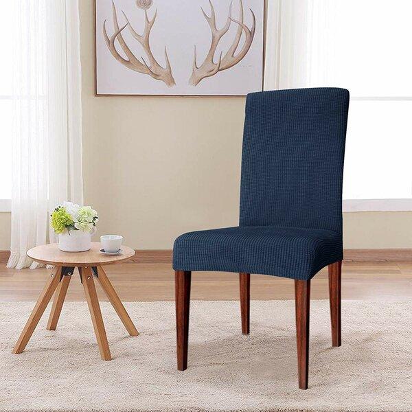 Review Knitting Jacquard Box Cushion Dining Chair Slipcover (Set Of 4)