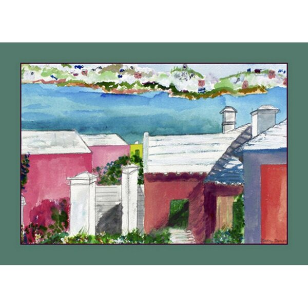 Roof Tops Placemat (Set of 4) by Betsy Drake Interiors