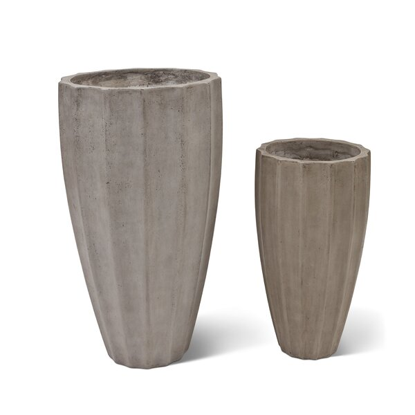 Clinchport 2-Piece Concrete Pot Planter Set by Greyleigh