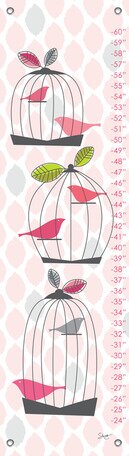 Modern Birdcage Growth Chart by Oopsy Daisy