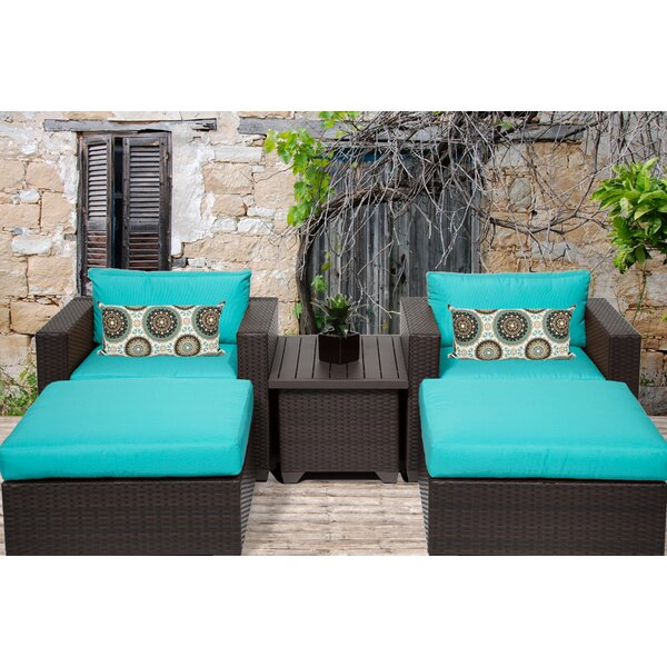 Fernando 5 Piece Seating Group with Cushions by Sol 72 Outdoor