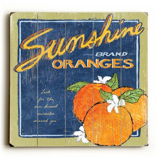 Sunshine and Oranges Wall Art by August Grove