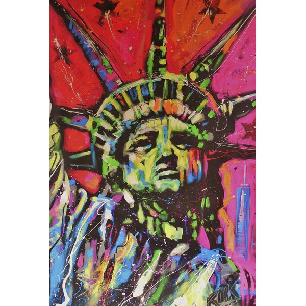 Statue of Liberty Garden flag by Toland Home Garde