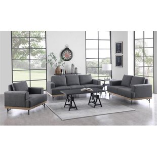 Marciniak 3 Piece Configurable Living Room Set by George Oliver