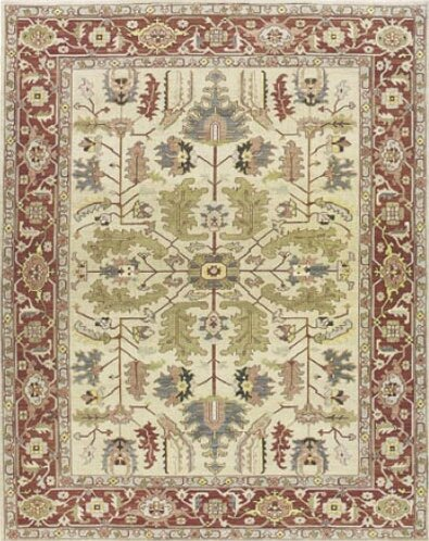Pierson Hand-Woven Light gold/Cinnabar Area Rug by Bloomsbury Market