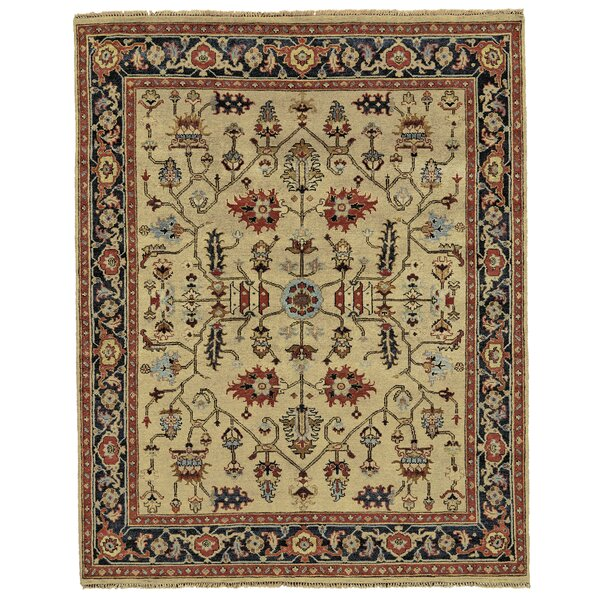 Barter Gold Area Rug by Astoria Grand