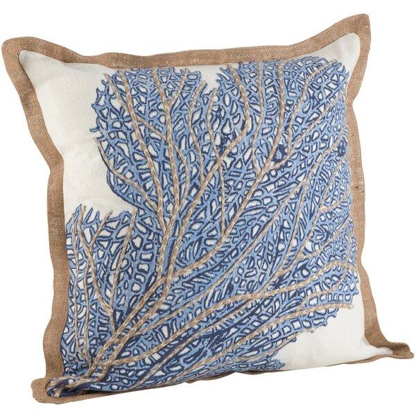 Aloisia Sea Fan Cotton Throw Pillow by Highland Dunes