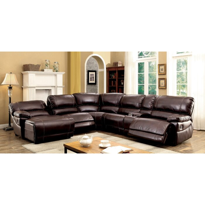 Alcott Hill Newmont Reversible Reclining Sectional & Reviews