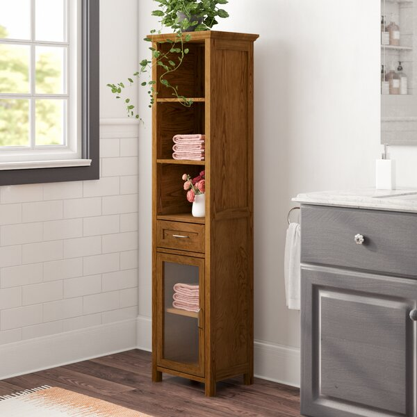 Bayard 17 W x 65 H Linen Tower by Greyleigh