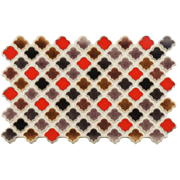 Abelardo 5.5 x 9 Porcelain Mosaic Tile in Red/Brown by EliteTile