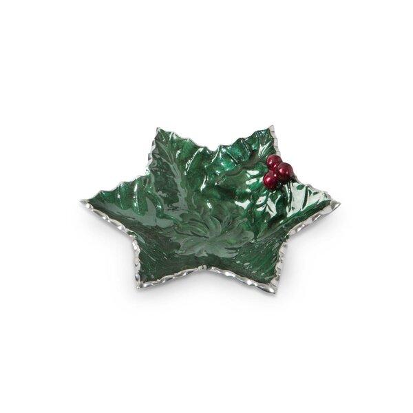 Holly Sprig Starflake Decorative Bowl by Julia Knight Inc