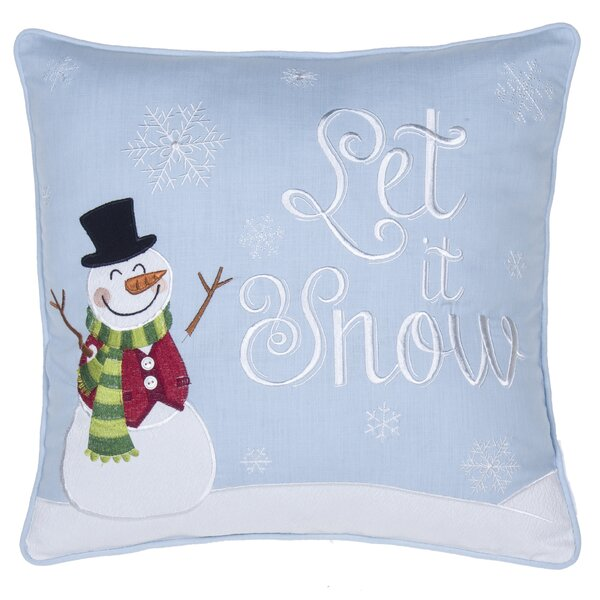Let It Snow Throw Pillow by 14 Karat Home Inc.