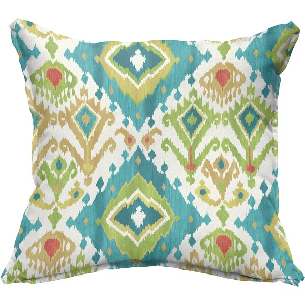 Briget Flange Square Indoor/Outdoor Throw Pillow (Set of 2) by Bungalow Rose