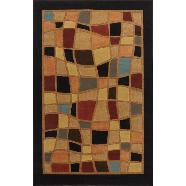 Brinegar Black Area Rug by Ebern Designs